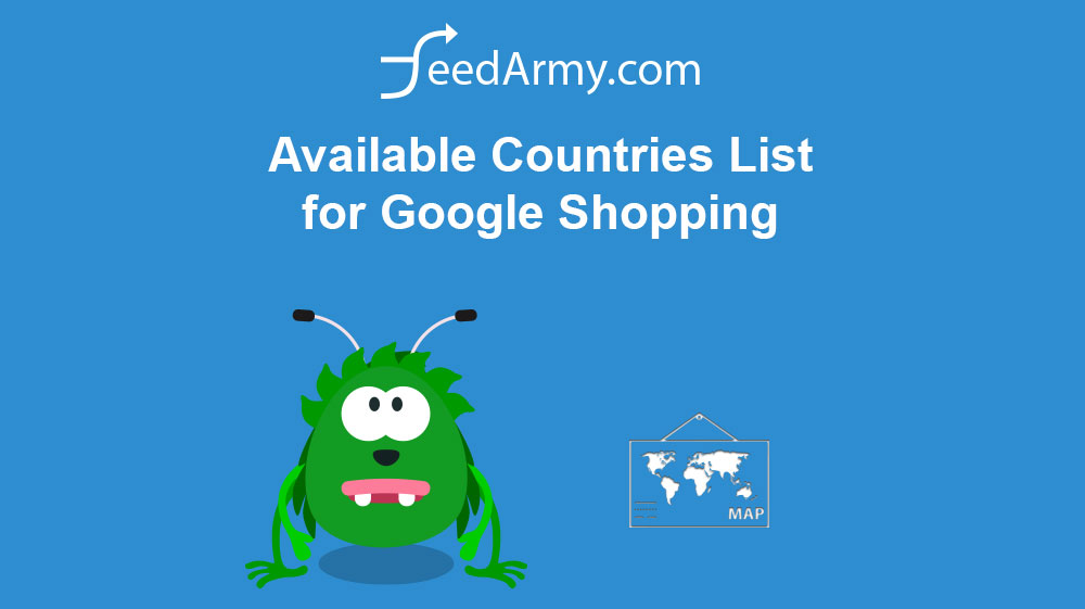 Available Countries List for Google Shopping