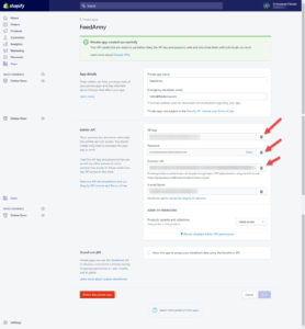 Copy Shopify API Credentials