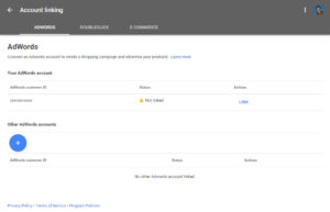 Google Merchant Adwords Linking