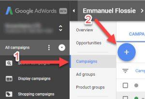 Google Adwords Create New Campaign