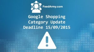 Google Shopping Category Update