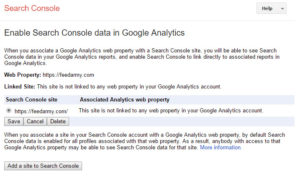 Enable Search console data in Google Analytics