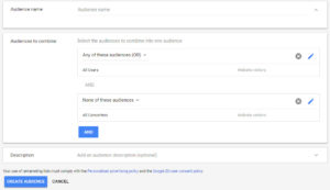 Google Ads Custom Combination Settings