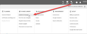 Google Ads Tools - Audience Manager
