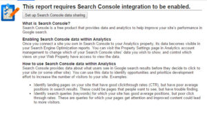 Set up Search Console data sharing