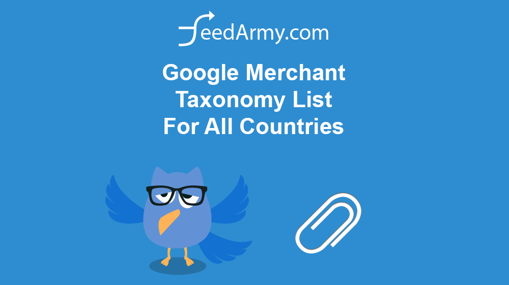 Google Merchant Taxonomy List For All Countries