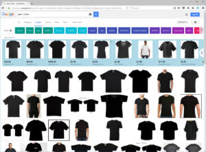 Google Image with Shopping Results