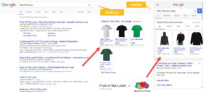 Google Shopping Absolute Top