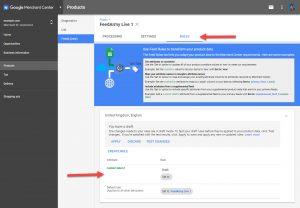Google Merchant Select Feed Rule