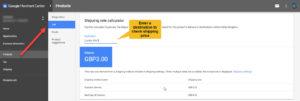 Google Merchant Center Check Shipping Prices