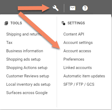 Google Merchant Center Account Access