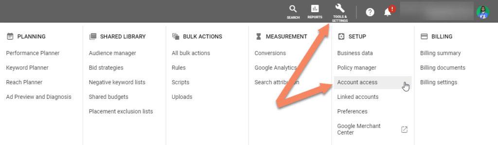 Google Ads Account Access