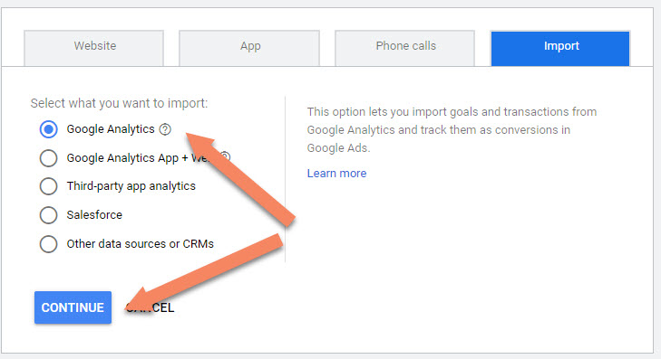 Google Ads Import Google Analytics
