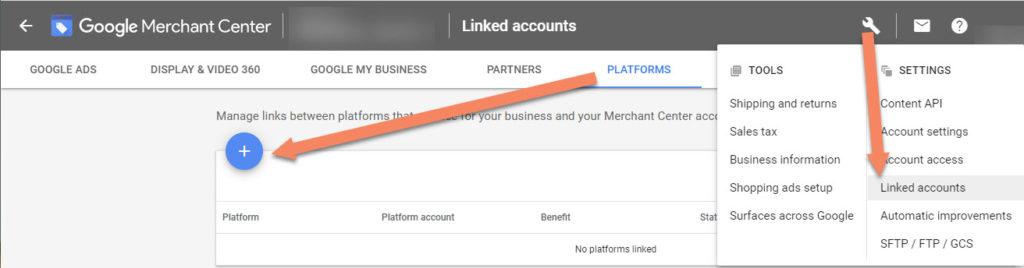 Google Merchant Center Platforms