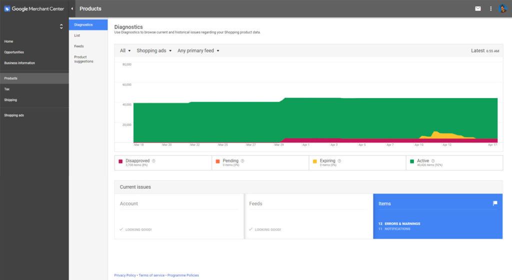Google Merchant Center Errors