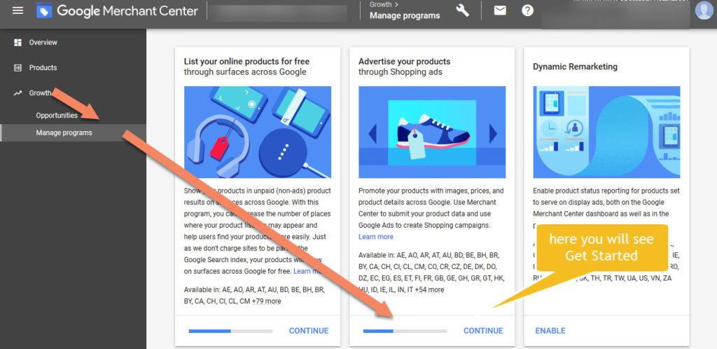 Google Merchant Center Get Started With Google Ads