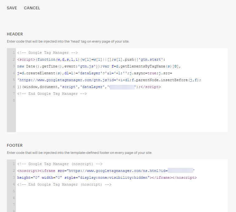 Squarespace Google Tag Manager Code