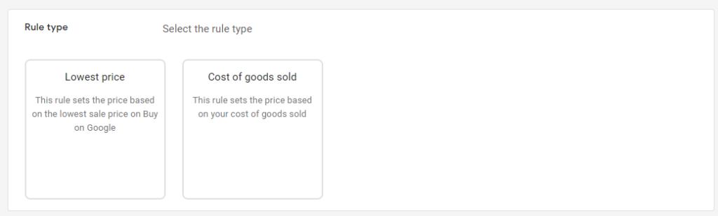 Google Merchant Center Pricing Rule Types