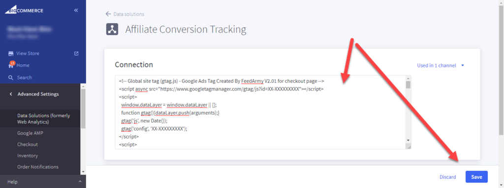 Bigcommerce Affiliate Conversion Tracking