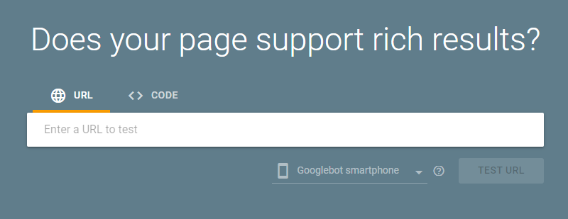 Google Structured Data Testing Tool