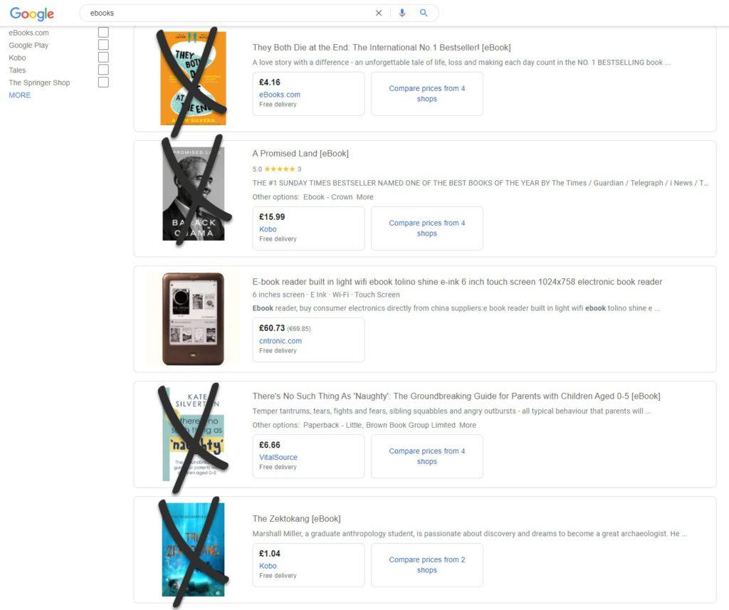Ebooks Disapproved Google Merchant Center