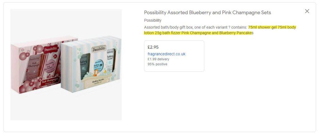 Google Shopping Description Bundles Focus