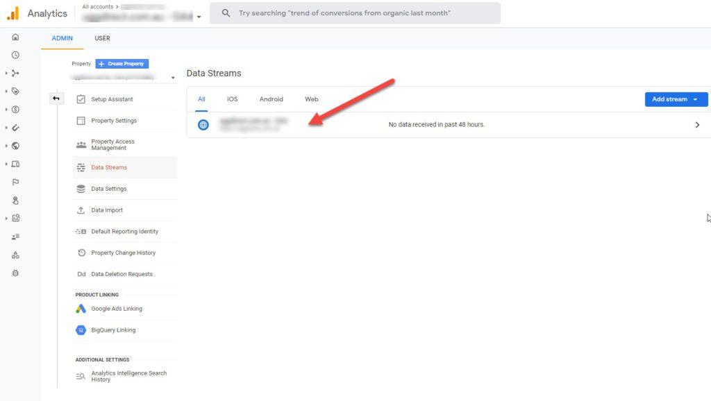 Google Analytics Data Streams