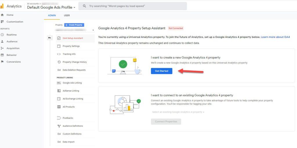 Google Analytics 4 Property Setup Assistant