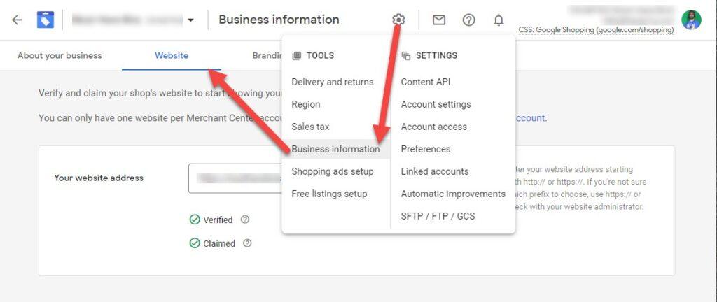 Business Information Website