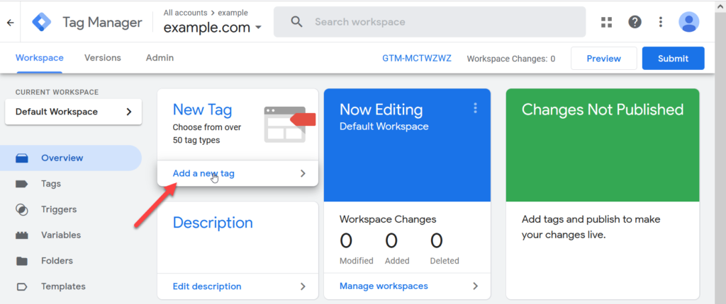 Google Tag Manager Add New Tag