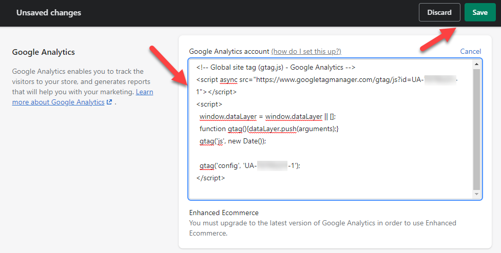 Install Google Analytics In Shopify