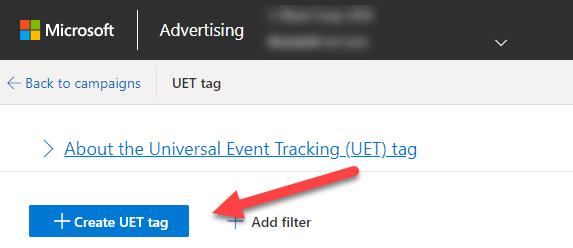 Create UET Tag