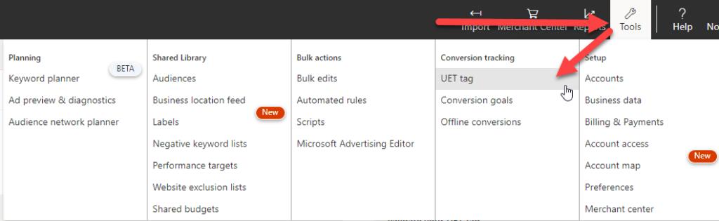 Microsoft UET Tag